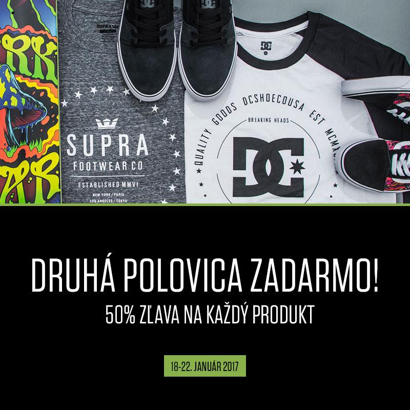 50% zľava na každý produkt!