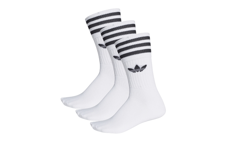 ADIDAS Solid Crew Socks 3*pack (S21489)