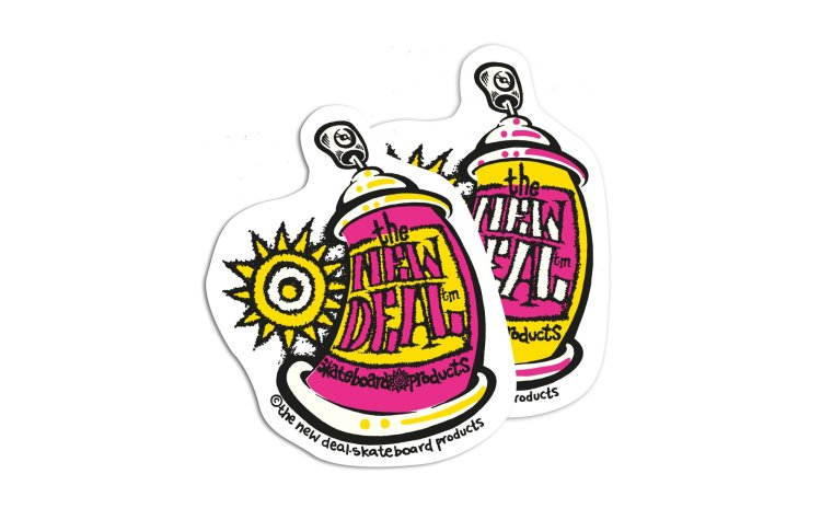 NEW DEAL Spray Can Stickers 10 Pk (60172020-MUL)